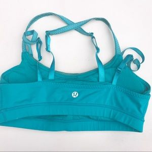 lululemon athletica Tops - LULULEMON teal stash it BRA 6 blue